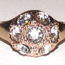 Ladies Fashion Dinner Cocktail Ring Gold Plate Size 7