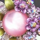 Pink Faux Amethyst Fantasy Party Cocktail Ring Adjust. BOXED
