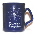 """Quaker Oats Coffee Cup """"Quaker Recycles""""® Danville, IL Collectible Used"""