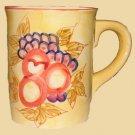 Ceramic Cup Mug Tuscany Fruit Design for Coffee, Planter, Candy