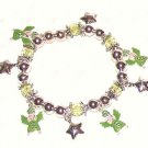 FLYING ANGELS CHARM BRACELET PRETTY GREEN GOWNS & BEADS