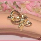VINTAGE RIBBON THEME COSTUME RING Size adjustable Used