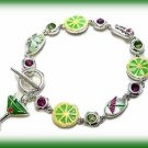NEW Bracelet Mojito Margarita Cocktail Drink with Lemons & Limes New