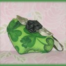 Scented Mini Heart Pillow Spring Green Clover Theme Hand Made