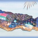 Custom Artisan Hand Crafted Hair Barrette Variety of Materials Blue Black Gold Pastels New