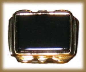 Mens Womens Classic Black Onyx Ring 14k Yellow Gold Plated Size 10 New