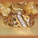 HIP HOP ICED Elegant Petite BLING Nugget Ring YGP Size 10 New
