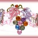Victorian Bracelet Crystal Grape Cluster Filigree New