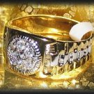 Mens Ring Clear CZs Ring Yellow & White Gold Size 12 New