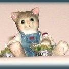 Itty Bitty Kitty w/Tuna Figurine Enesco Calico Kitten NIB