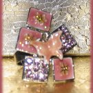 Pink Butterfly & Crystals Fantasy Party Cocktail Ring Size Adj. New