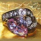 Ladies Fashion Ring Sim. Lavender Alexandrite Solitaire Size 6 New