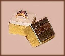 Lot of 6 Mini Gold Foil Ring Boxes New