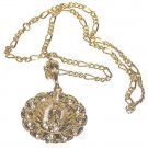 Holy Mother Mary & Baby Jesus Chain & Pendant Christian New