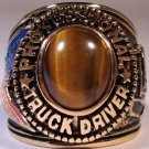Trucker Truck Driver RING Tiger's Eye stone Size 10 Trucking YGP New