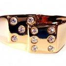 Casino Dice Gambler Ring Size 13 Gold Plt. New