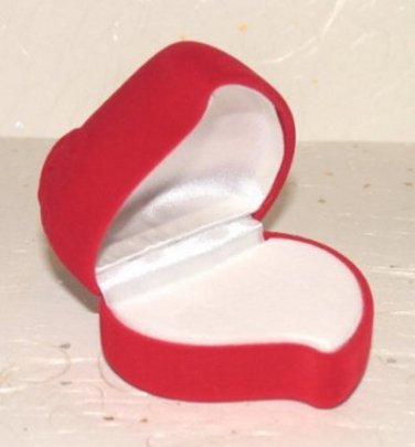 Ring Box Heart shape Red Rose Theme Great Gift New