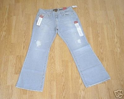 AEROPOSTALE LOW RISE DESTROYED JEANS-00 SHORT-27 x 27-NWT