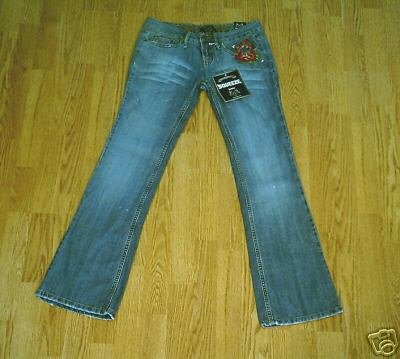 SQUEEZE LOW RISE STRETCH DESTROY JEANS-7-31 X 32.5-NWT