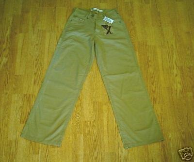 GX WOMENS WIDE LEG KHAKI PANTS-SIZE 5/6-28 X 32-NWT