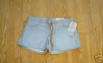 LEI JEANS FADED LOOK DRAWSTRING SHORTS-1-29 X 3 1/4-NWT