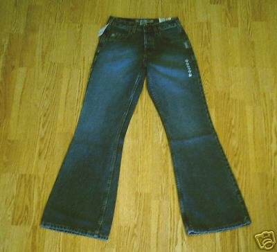 SILVER HIPSTER FLARE JEANS-SIZE 25 x 31.5 -0-1-NWT