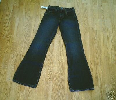 SILVER FADED LEG FLARE JEANS-SIZE 25 X 33 1/2-NWT
