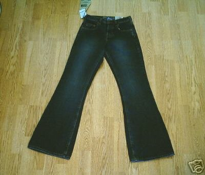 SILVER FADED LEG FLARE JEANS-25 X 33 1/2-TAG 25/33-NWT