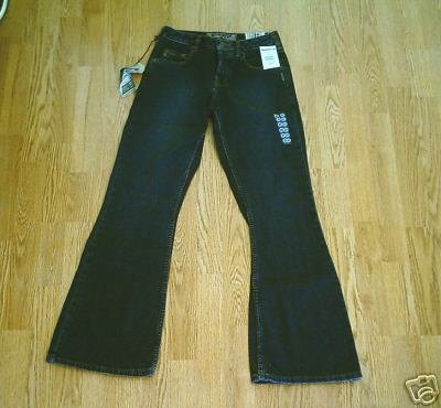 SILVER FADED LEG FLARE JEANS-26 X 31 1/2-2-tag 25-NWT
