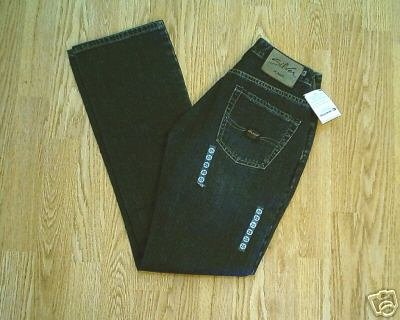 SILVER FADED LEG BOOTCUT JEANS-SIZE 25 X 32- NWT