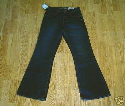 SILVER FADED LEG FLARE JEANS-26 X 31 1/2-TAG 25-NWT