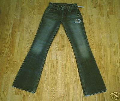 SILVER LOW RISE WHISKER JEANS-SIZE 27 X 36.5-TAG 26-NWT