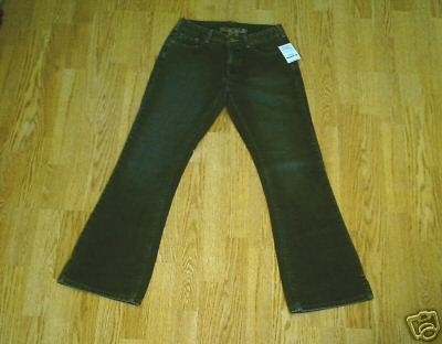 SILVER LOWER RISE BOOTCUT FADED LEG JEANS-27 X 31-NWT