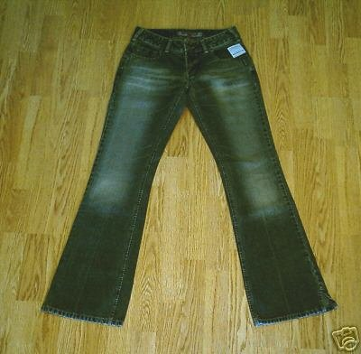 SILVER LOW RISE WHISKER JEANS-SIZE 29 x 34.5-tag 27-NWT