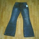 SILVER LOW RISE LACE DESTROYED JEANS-30 X 34-T 28-NWT