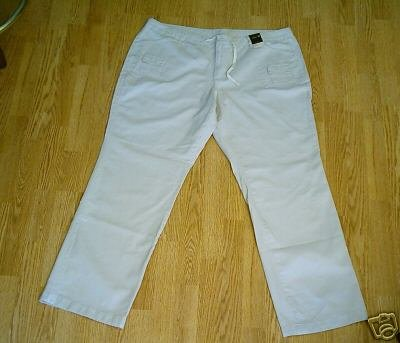 VENEZIA WOMENS KHAKI BOOTCUT PANTS-18-43 X 34 1/2-NWT