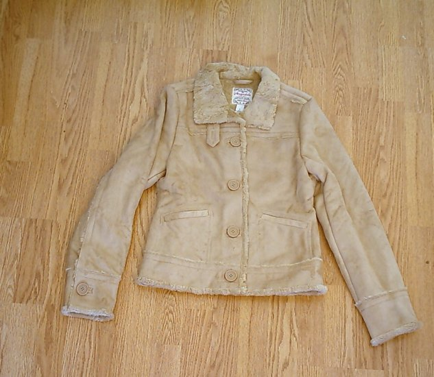 AEROPOSTALE JEANS WINTER FAUX SUEDE COAT-SIZE SMALL-NWT