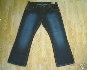 PLUGG MENS FADED LEG DISTRESSED JEANS-38 X 32-NWT
