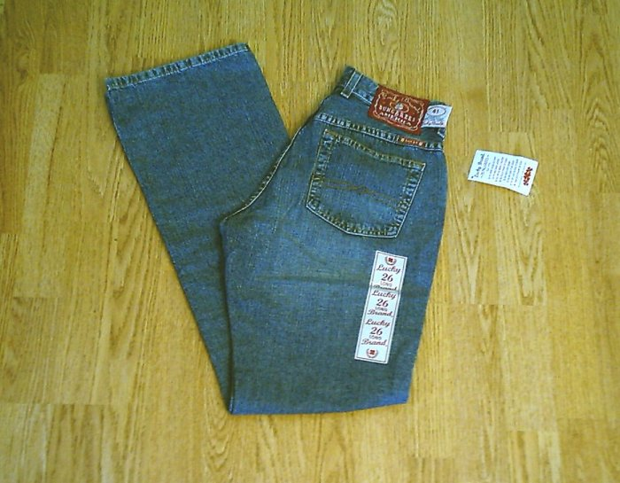LUCKY LOW RISE EASY FIT FLARE JEANS-2 LONG-27 X 33-NWT