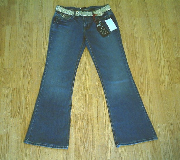 VANILLA STAR LOW RISE FLARE STRETCH JEANS-11-32 34-NWT