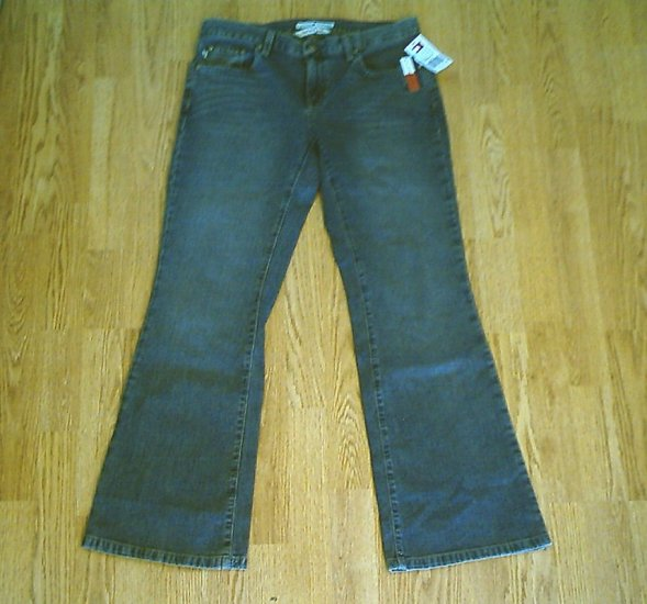 TOMMY LOW RISE FLARE STRETCH JEANS-SIZE 6-32 X 31.5-NWT