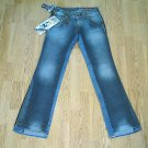 MISS SIXTY LOW RISE CRIMSON JEANS- 29 X 34-TAG 25-NWT