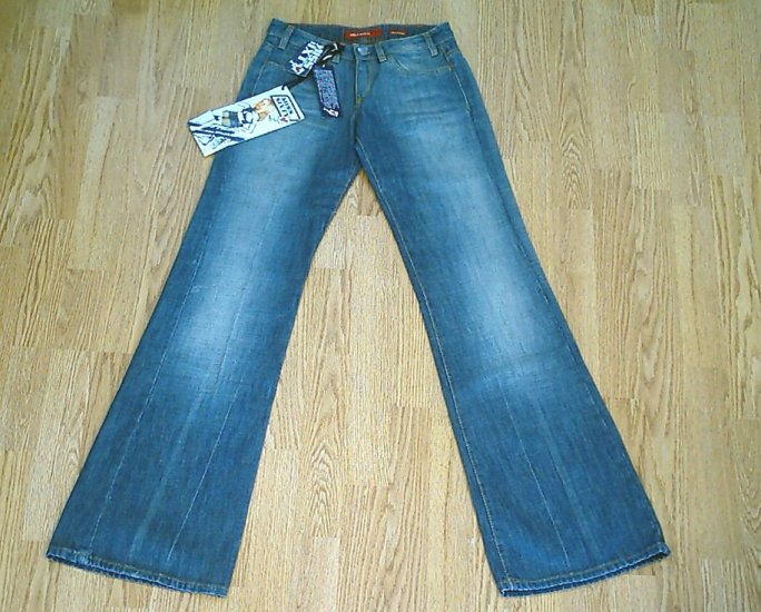 MISS SIXTY LOW RISE TOMMY FLARE JEANS-SIZE 26 X 35-NWT