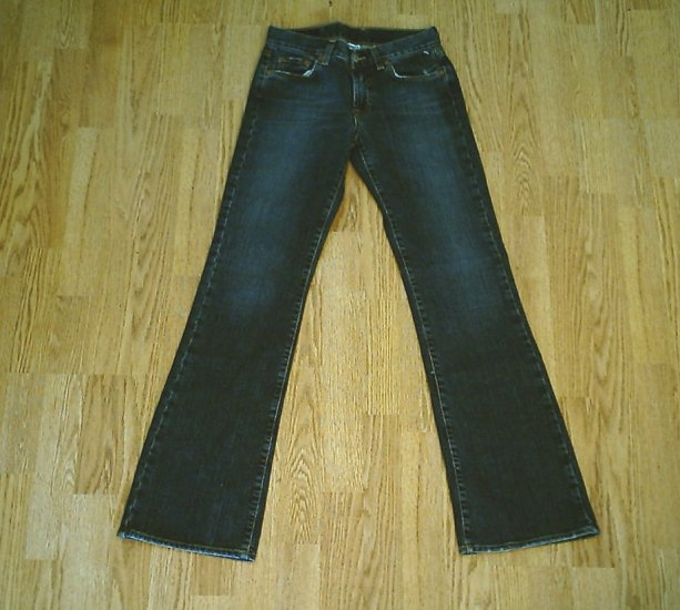 LUCKY FLARED PLAIN JANE JEANS-SIZE 0-27 X 33-NWT NEW