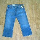 RALPH LAUREN STRETCH CROPPED JEANS-SIZE 6-32 X 23.5-NWT