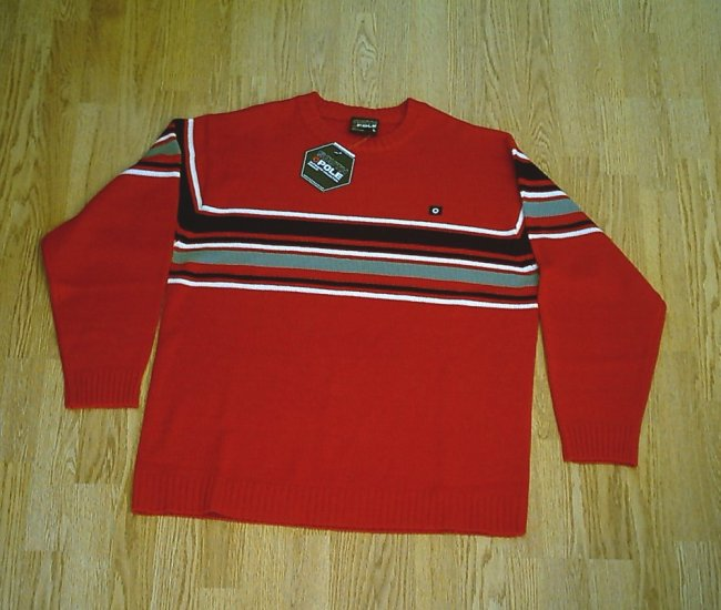 SOUTH POLE JEANS MENS RED SWEATER-SIZE LARGE-NWT $60