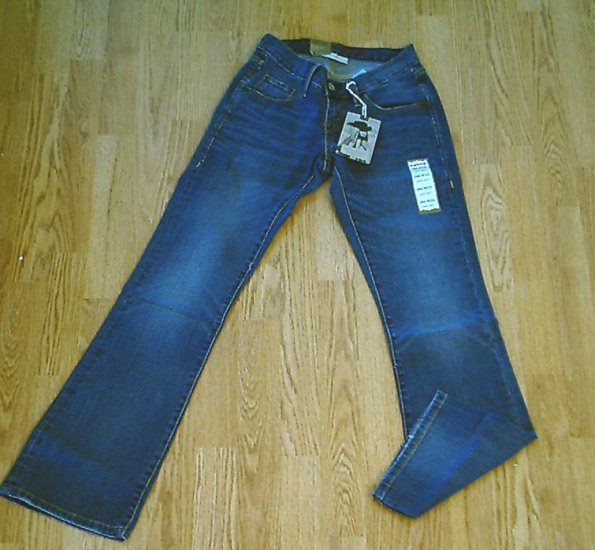 LEVIS CURVY BOOT STRETCH JEANS-SIZE 0 LONG-29 X 32 1/2-NWT RETAIL $68