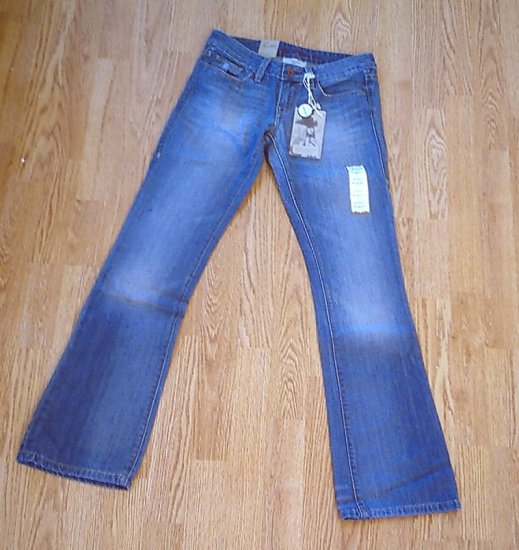 LEVIS 553 MIDRISE BOOT JEANS-SIZE 0 LONG-28 X 34 1/2-NWT RETAIL $78