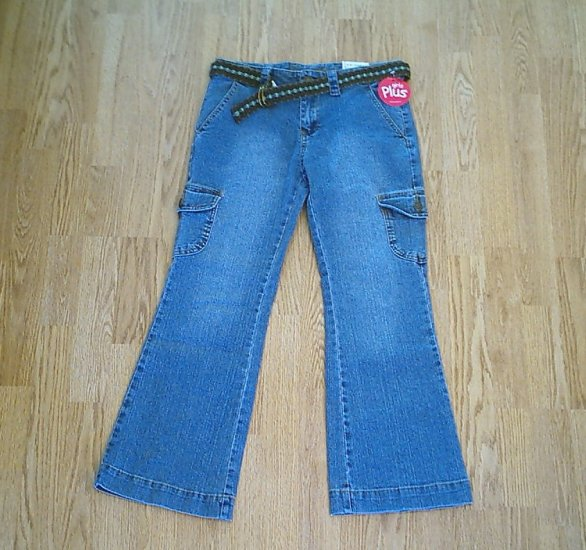 ARIZONA GIRLS CARGO STRETCH JEANS-SIZE 10 1/2 PLUS-NWT