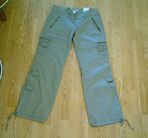 AEROPOSTALE JEANS LOW RISE UTILITY PANTS-SIZE 3/4-NWT